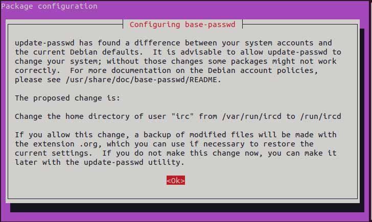 Configure base password