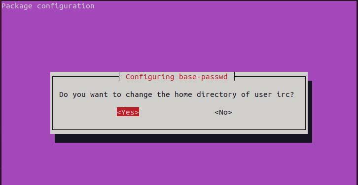 Change home dir of irc user
