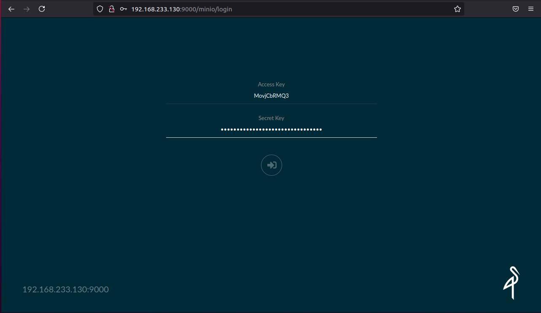 minio web dashboard login