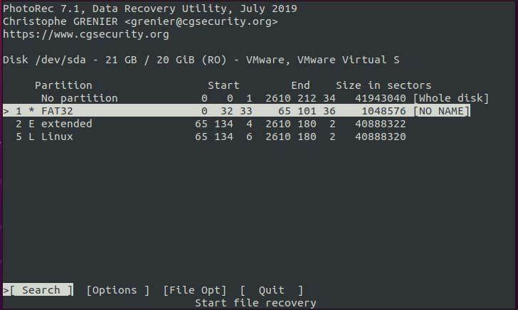 Ubuntu File Recovery