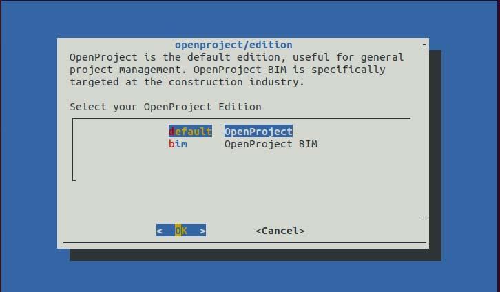 Configure OpenProject