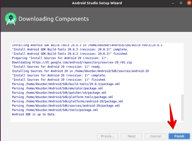 Downloading components
