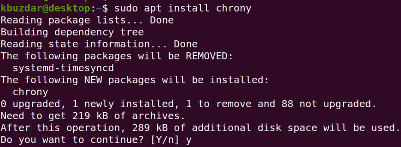 Install Chrony