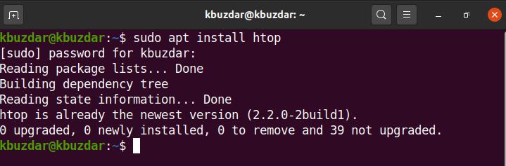 Install htop