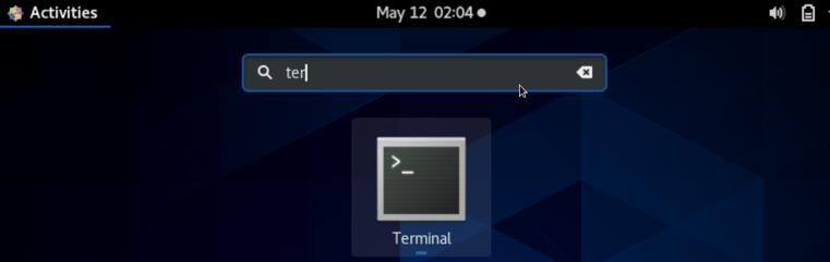 Open the Terminal