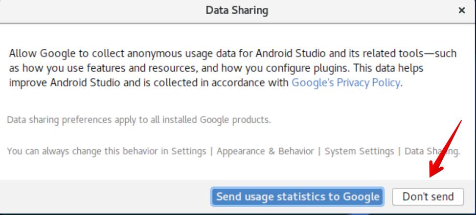 Don't send usage stats