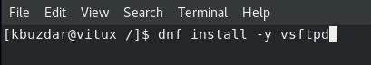 Installing VSFTPD