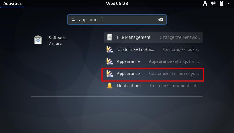 Configure Appearance