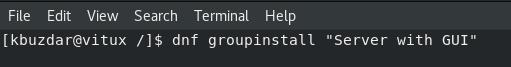 Install GNOME Desktop